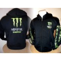MONSTER ENERGY SWEATERSVEST zwart tekst fluor junior/ volw