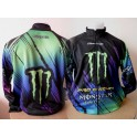 MONSTER ENERGY  sweatervest moto cross gr/paars nieuw !!