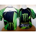 Monster energy  t shirt  zw/gr THOR NIEUW !!