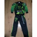 Monster energy Motocross training suit Hogan leather shoes Green