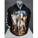 WILD HORSES cardigan sweater printed color