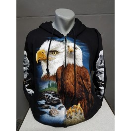 EAGLE sweater vest print eagle head rock eagle